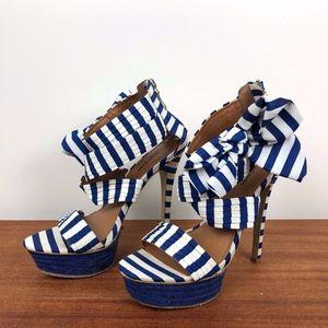 Zigi Soho Shoe Blue and White Heels